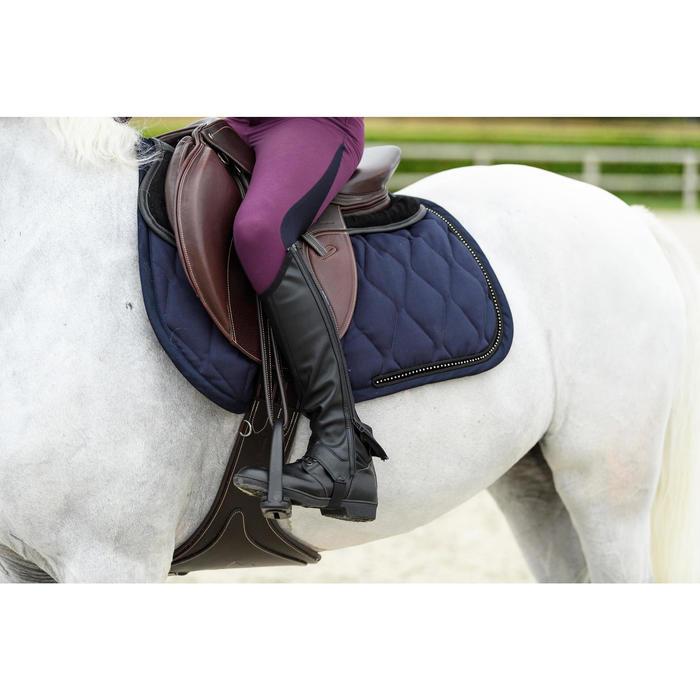 Tapis de selle équitation cheval et poney Strass marine