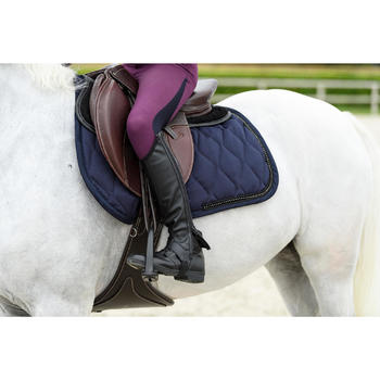 Zadeldek strass ruitersport paard en pony marineblauw