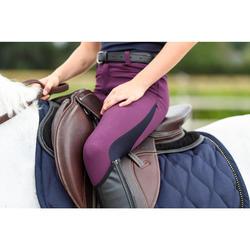 Pantalón equitación júnior 500 MESH morado y azul marino