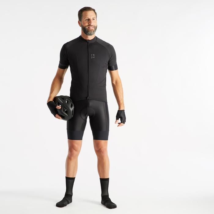 Kurze Fahrrad-Trägerhose Rennrad RC 500 Herren schwarz