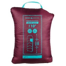 Sac de couchage MH100 10°C Junior Prune