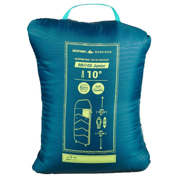 Sac de couchage MH100 10°C Junior Bleu