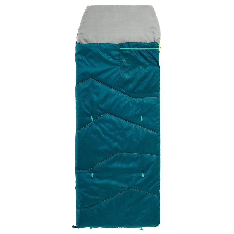 Kampeerslaapzak voor kinderen MH100 10°C blauw