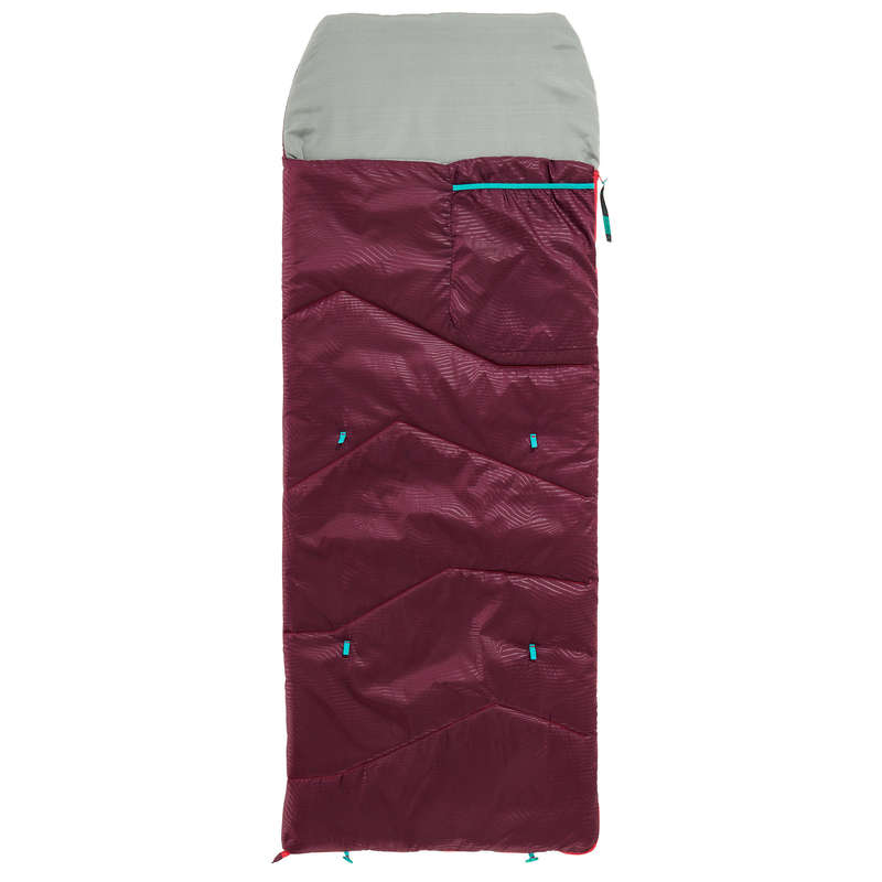 HIKING CAMP JUNIOR EQUIPMENT Camping - JR MH100 10°C - PLUM QUECHUA - Sleeping Equipment