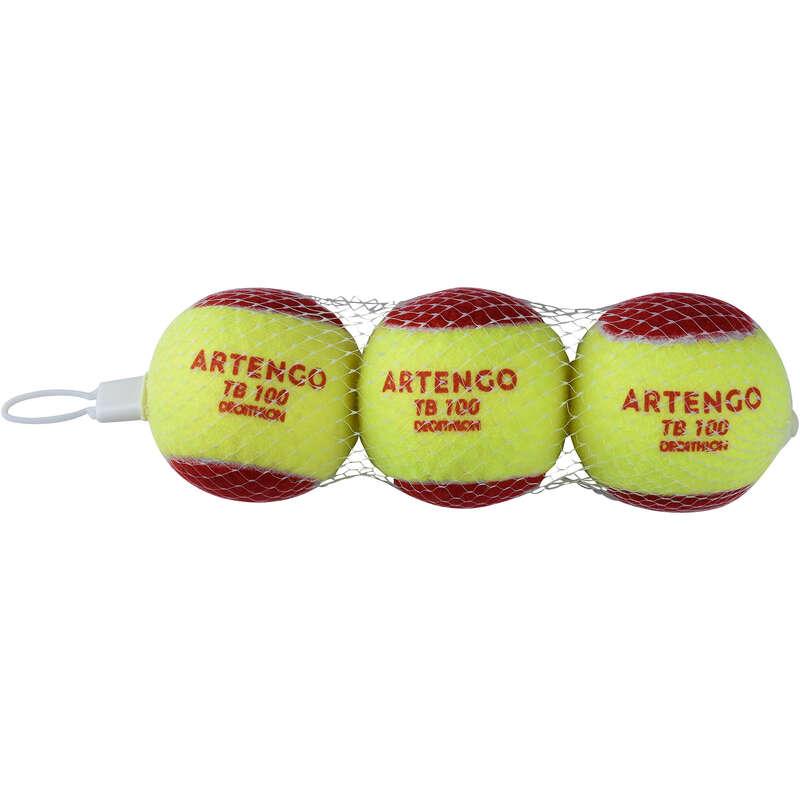 TENISZLABDÁK Tenisz - Teniszlabda TB100 3 db  ARTENGO - Tenisz felszerelés