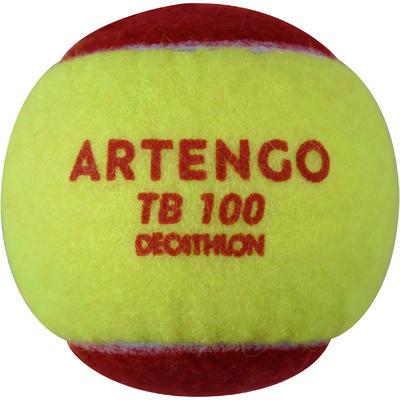 عبوة من ثلاث كرات تنس TB100 - أحمر