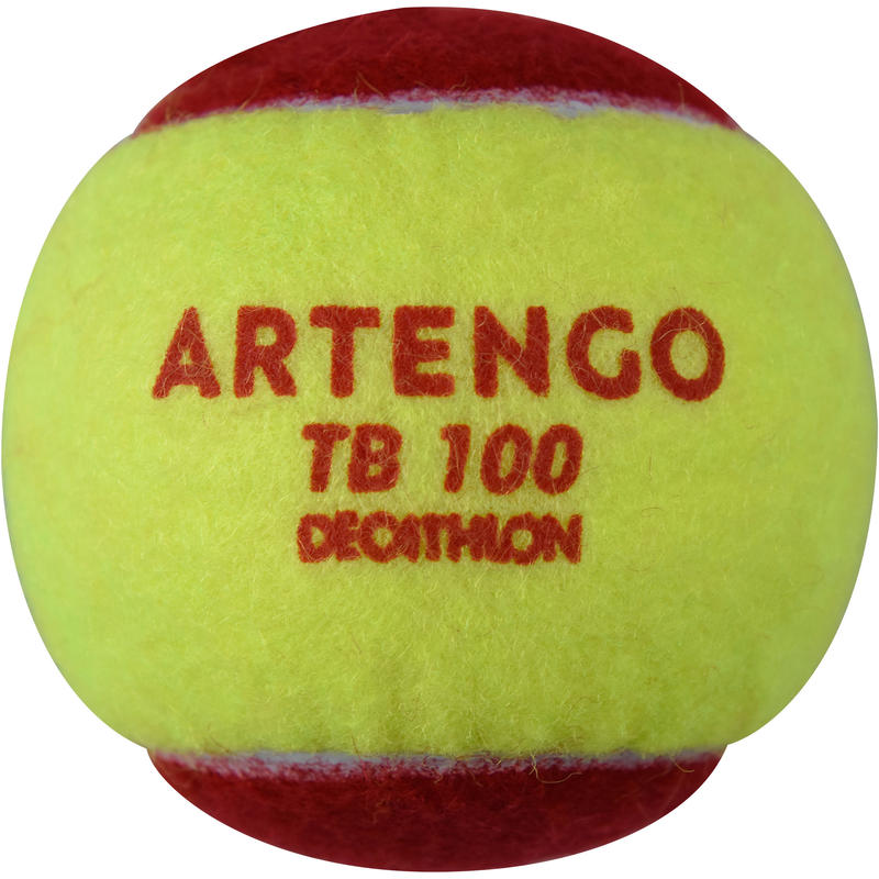 PELOTA DE TENIS TB100 X3 ROJO
