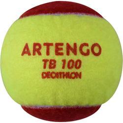BALLE DE TENNIS TB100*3 ROUGE