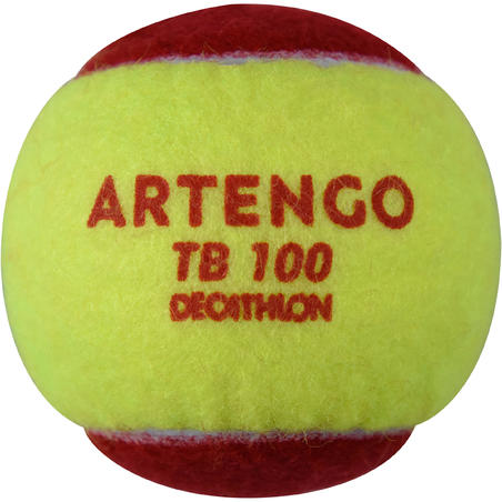 Tiga-Pak Bola Tenis TB100 - Merah
