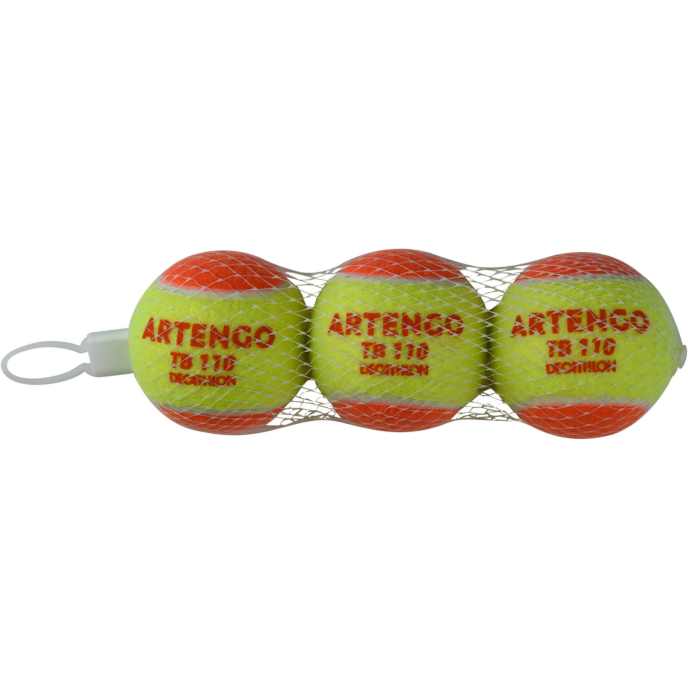 Set de 3 mingi Tenis TB110