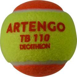 BALLE DE TENNIS TB110 ORANGE X3