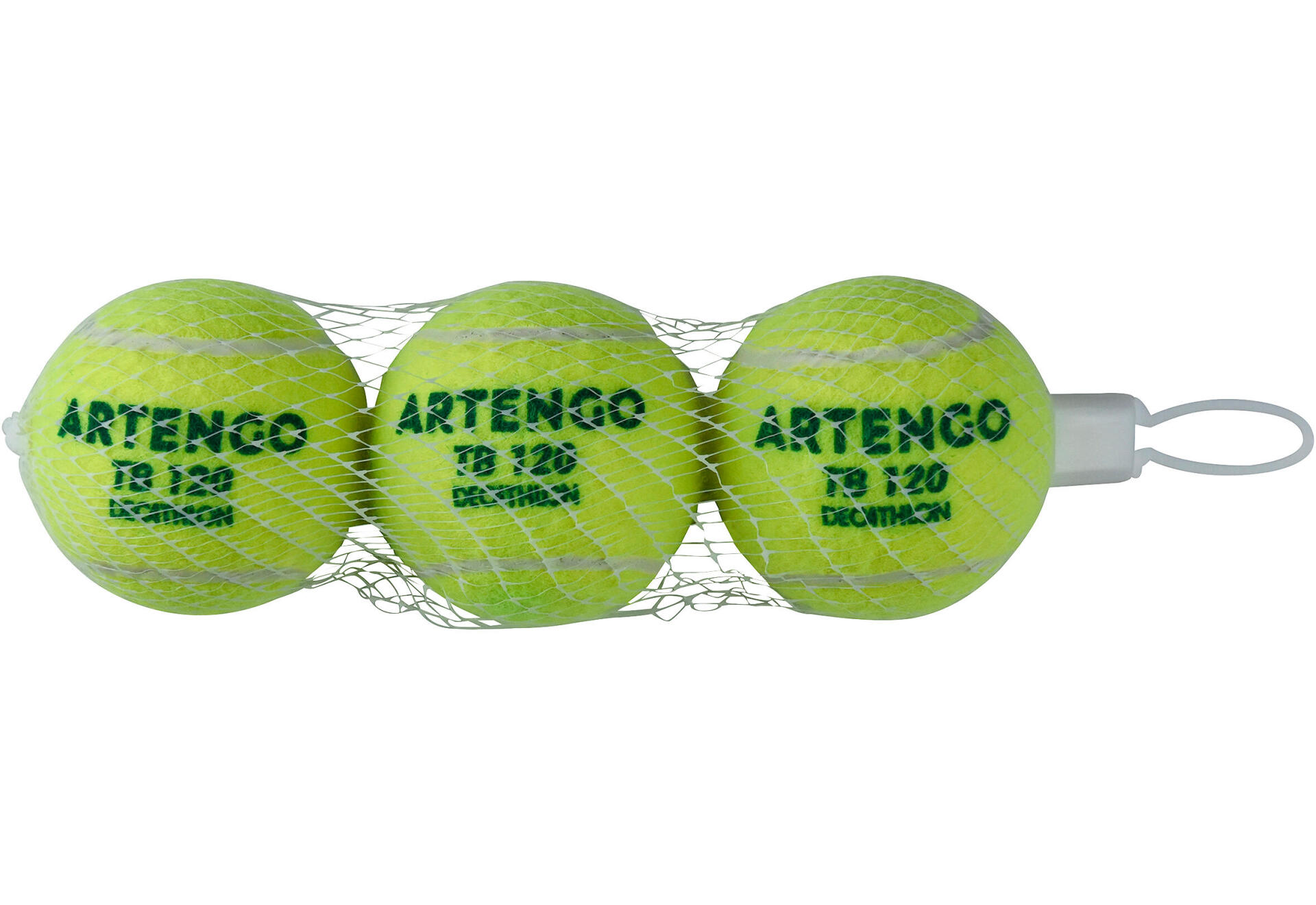 tb120 tennis green pressureless ball in net