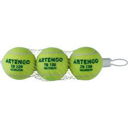 Tennis Ball TB120 x 3 - Green Dot