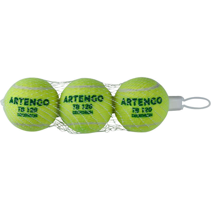 MINGI TENIS Sporturi cu racheta - Minge de tenis TB120*3 ARTENGO - Echipament pentru cluburi si competitii