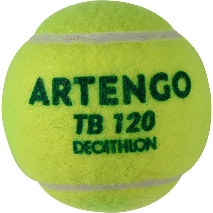Tennisballen TB120 3 stuks groene stip