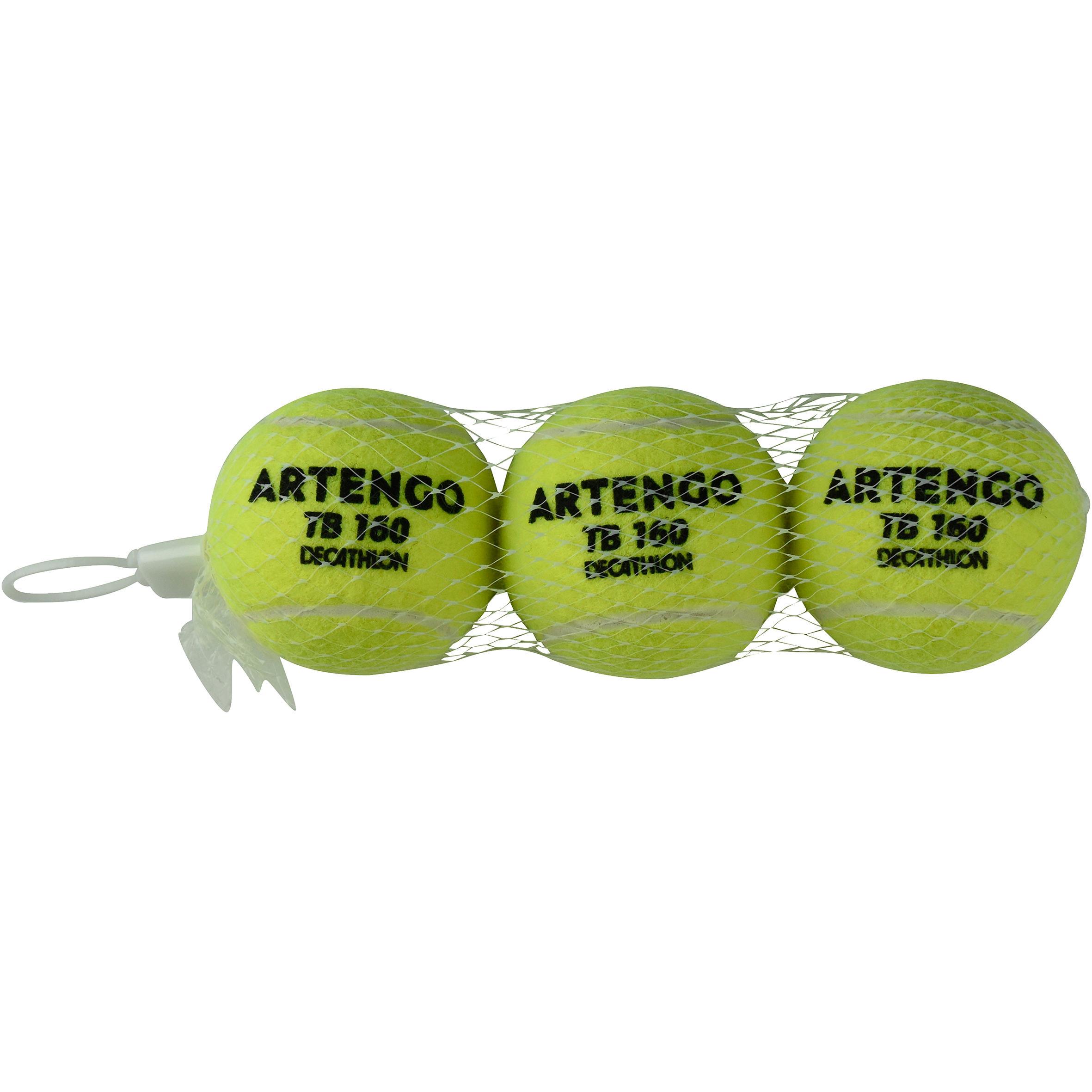 Artengo Tennisballen TB160 3 stuks geel