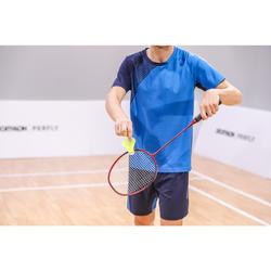 Camiseta de bádminton perfly manga corta hombre 530 Azul