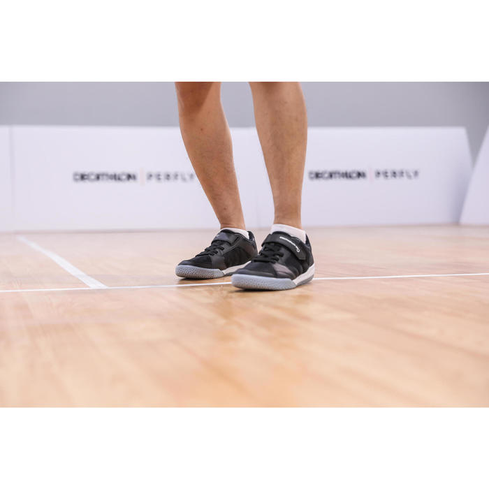 MEN BADMINTON SHOES BS 190 STRAP BLACK