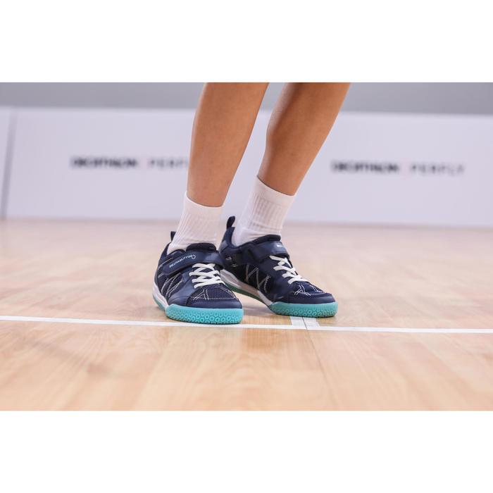 Chaussures De Badminton BS160 Junior - Marine/Vert