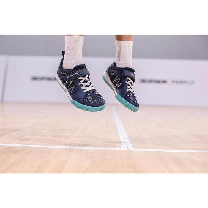Badmintonschuhe BS 160 Kinder marineblau/grün