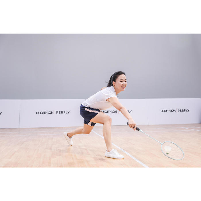 WOMEN BADMINTON SHOES BS 100 WHITE