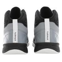 Chaussure basketball débutant SHIELD 300 gris/noir