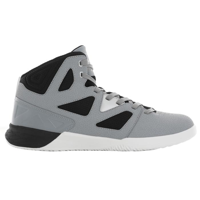 CHAUSSURE BASKETBALL DEBUTANT SHIELD 300 gris/noir
