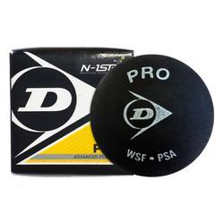 Pelota Squash Dunlop Ball Pro x1 Doble Punto Amarillo