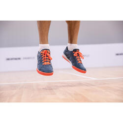 MEN BADMINTON SHOES BS 190 ORANGE GREY