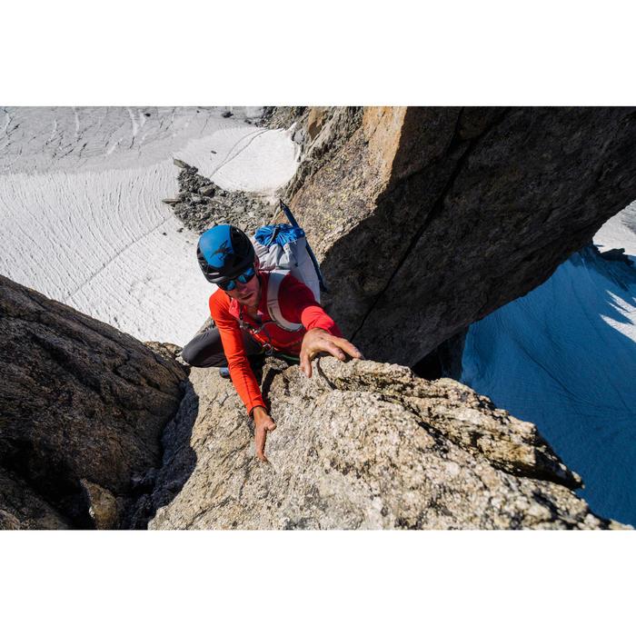 Heren fleece met halve rits voor alpinisme vermiljoenrood