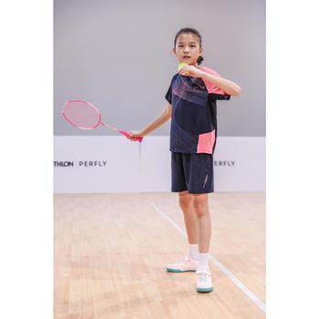 T-SHIRT de badminton JUNIOR 560 - MARINE ROSE