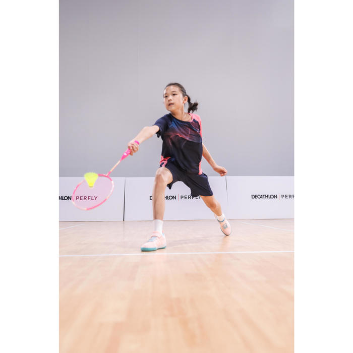 Short de badminton Junior 560 - Marine/Rose