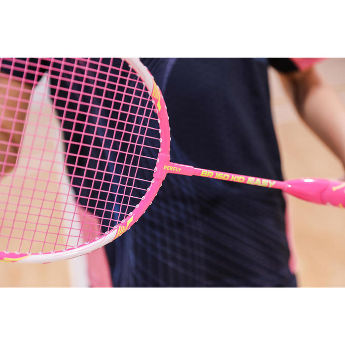 Raquette De Badminton BR 160 Easy Grip Enfant - Rose