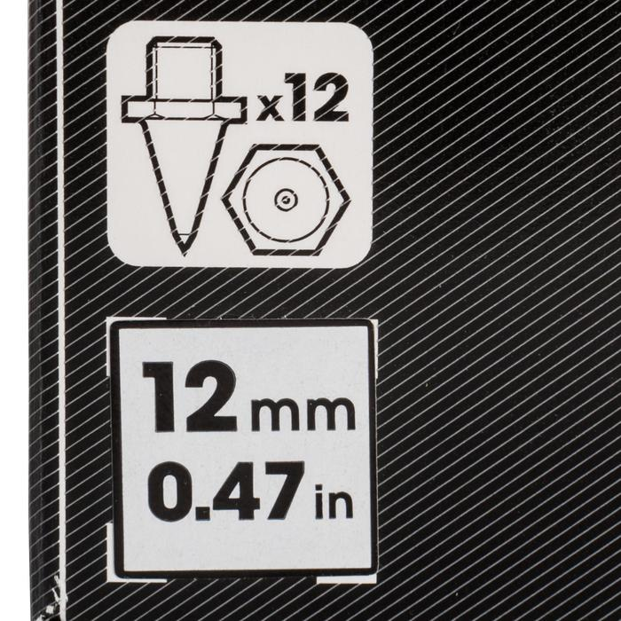 Set van 12 zeskantspikes voor atletiekschoenen 12 mm