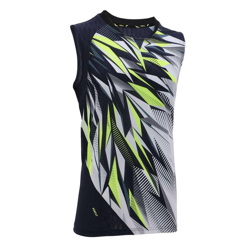 MEN'S ADVANCED BADMINTON APPAREL Badminton - Sleeveless T-Shirt 990 M WHITE PERFLY - Badminton Clothing