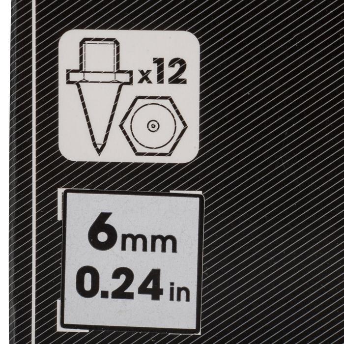Set van 12 zeskantspikes voor atletiekschoenen 6 mm