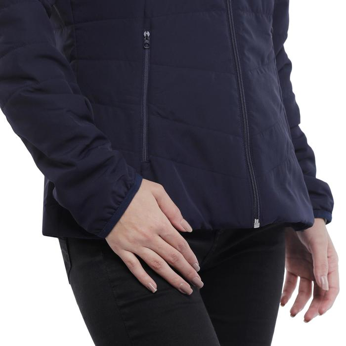 Gewatteerde jas voor bergtrekking dames Trek 50 Marine