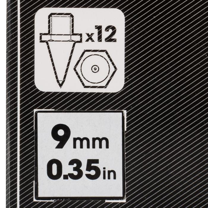 Set van 12 zeskantspikes voor atletiekschoenen 9 mm