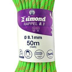 Cuerda Doble Escalada Alpinismo Simond Rappel 8,1 mm x 50 m Verde