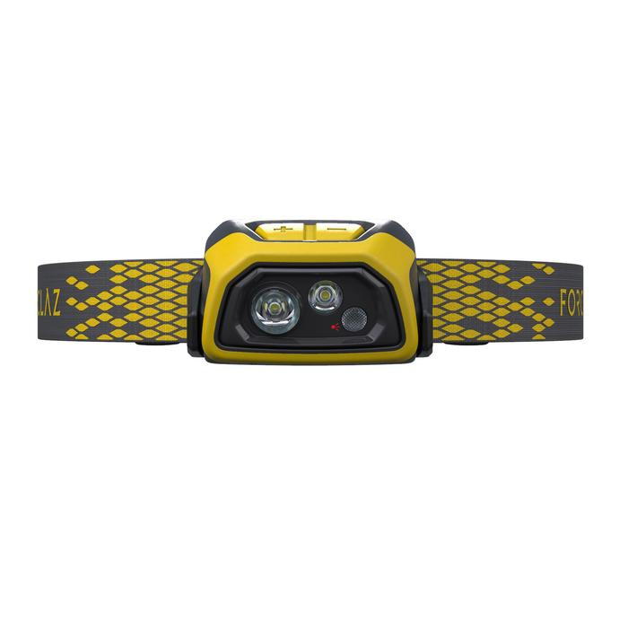 Rechargeable trekking head torch - TREK 900 USB - 400 lumens - Yellow