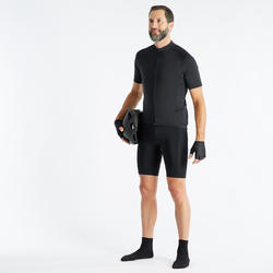 RC100 Short-Sleeved Warm Weather Road Cycling and Touring Jersey - Black