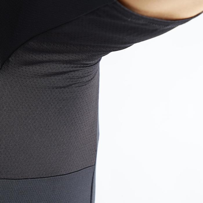 Fietsshirt met korte mouwen voor wielrennen heren RC100 warm weer zwart
