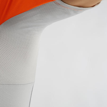 RC100 Short-Sleeved Warm Weather Road Cycling and Touring Jersey - Grey/Orange