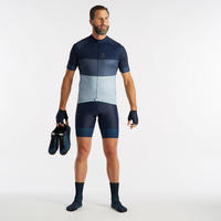 RC500 Road Cycling Short-Sleeved Warm Weather Jersey - Navy