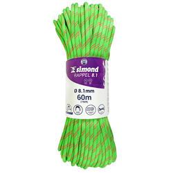 Cuerda Doble Escalada Alpinismo Simond Rappel 8,1 mm x 60 m Verde
