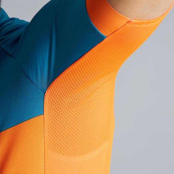Wielershirt RC500 met korte mouwen voor heren blauw/oranje
