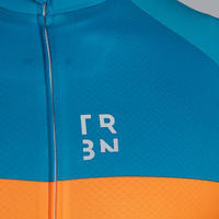 RC500 Road Cycling Short-Sleeved Warm Weather Jersey - Blue/Orange
