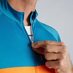 Kurzarm-Radtrikot Rennrad RC 500 Herren blau/orange