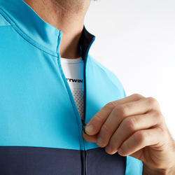 RC100 Short-Sleeved Warm Weather Road Cycling and Touring Jersey - Navy/Blue