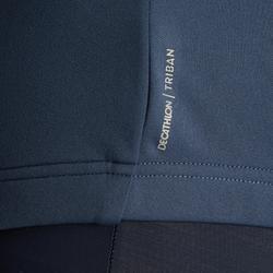Wielershirt RC100 met lange mouwen voor heren donkerblauw/oranje